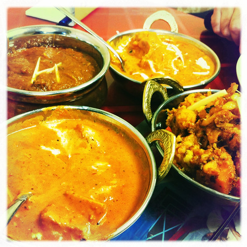 a spread at Da India Curry House