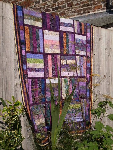 Purple quilt by Textile-tally