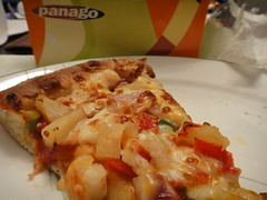 Slice of Primo Shrimp Pizza from Panago