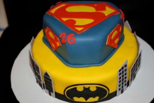 Superman & Spiderman cake