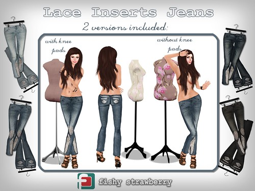 Lace Inserts Jeans