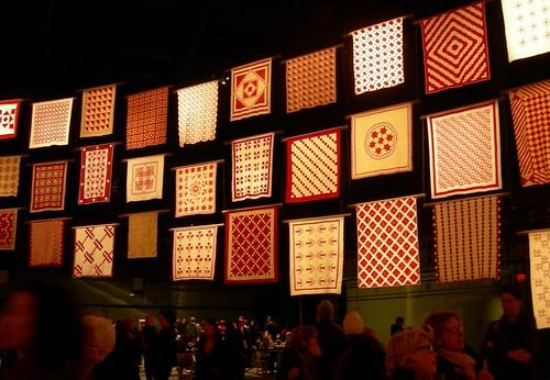pat sloan infinite variety red white quilt exhibit22