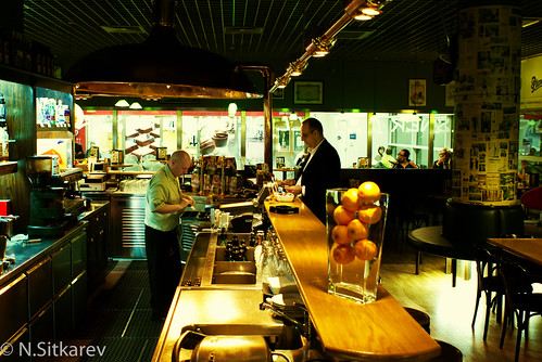 A small bar at Prague airport