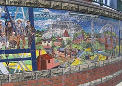 Viaduct Mural (Caerphilly County Borough Council) Tags: publicart slideshow crumlin