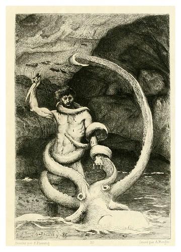 022-Los trabajadores del mar-Illustration des oeuvres complètes de Victor Hugo (Volume 2) 1885 - Flameng, François