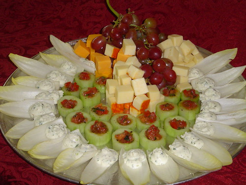 Cold hors d'oeuvres platter