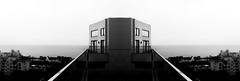 Roof (haominshi) Tags: city contrast lines landscape symmetry symmetric blackandwhite archietecture