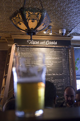 Pint in front of the Tap List (Stephen Gardiner) Tags: toronto ontario 2016 yongestreet barvolo lastdaysatvolo closing beer bar brewing patio pentax k3ii 1645