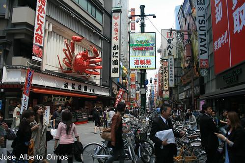 Movimiento en Dotombori Osaka