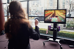 Microsoft Kinect kiosk at Game Design Expo 2011