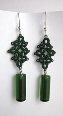 beverly green tatted earrings
