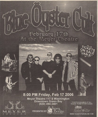 02/17/06 Blue Oyster Cult @ Green Bay, WI (Ad)