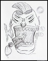 say no to GMO frankenfish sketch by Pasha (PashaOfficial) Tags: gmofreeworld