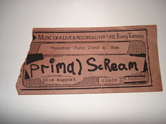 "Primal Scream poster 1984 <a style=""margin-left:10px; font-size:0.8em;"" href=""http://www.flickr.com/photos/58583419@N08/5400629685/"" target=""_blank"">@flickr</a>"