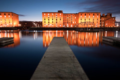 Albert Dock Liverpool (Mick h 51) Tags: city uk red england reflection building brick water wheel museum liverpool docks canon eos dock waterfront tate dusk jetty albert sigma quay unesco explore bluehour 1020 mersey listed quayside grade1 merseyside explored 450d