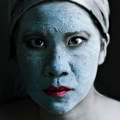 transformation (-liyen-) Tags: blue selfportrait face mask serious makeup getty masque d300 500x500 activeassignmentweekly bestofweek1 bestofweek2 bestofweek3 bestofweek4 cy2 bestofweek5 bestofweek6 challengeyouwinner 3waychallenge superaplus aplusphoto nikond300 cyspecialchallenge3rd winner500 agcgwinner anythinggoeschallenge thepinnaclehof kanchenjungachallengewinner tphofweek86