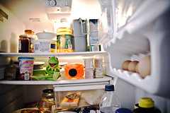 Kermit in the Fridge (SeRVe Photography) Tags: show door food fridge open juice muppets frog full refridgerator butter dairy muppet egges kermite