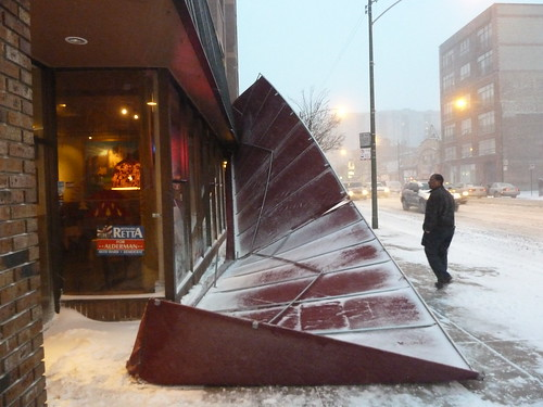 Downed awning at Ethopian Diamond