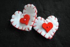 heart hair clips