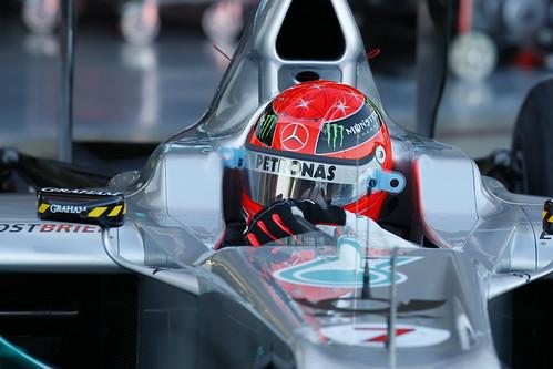 Schumacher leaves the garage
