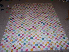 Postage Stamp Quilt Top