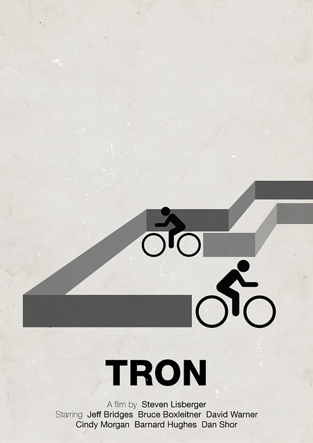 Tron pictogram movie poster