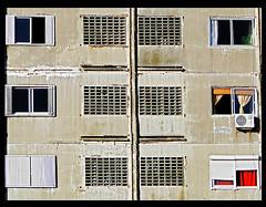 6 windows (eeiger) Tags: urban building uruguay geometry urbandecay urbana montevideo ramblas predio geometria uruguai montevideu elaineeiger eeiger