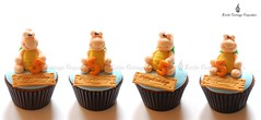 Funny Turtles (Little Cottage Cupcakes) Tags: birthday cupcakes turtle reptile snake frog lizard toad crocodile chameleon fondant cupcaketower sugarpaste littlecottagecupcakes