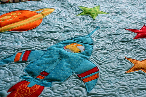 Rocket Dog Quilting Close-up