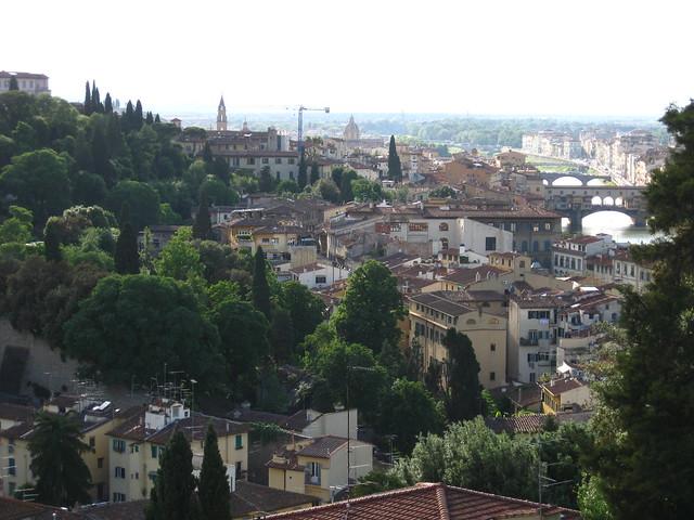 フィレンツェの街並みのフリー写真素材