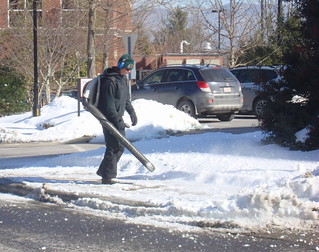 leaf blower snow removal
