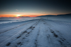 The Road Not Taken (betusmaximus) Tags: road robert ice iceland frost empty taken