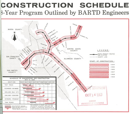 BART Construction Schedule (July-August 1963)