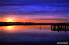 Sunset (Clayton Perry Photoworks) Tags: sunset silhouette vancouver reflections silhouettes richmond hdr steveston