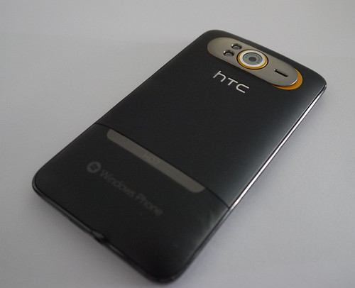 HTC HD7 (Windows Phone 7 Device) - Back
