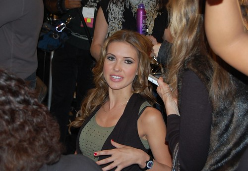 Audrina backstage