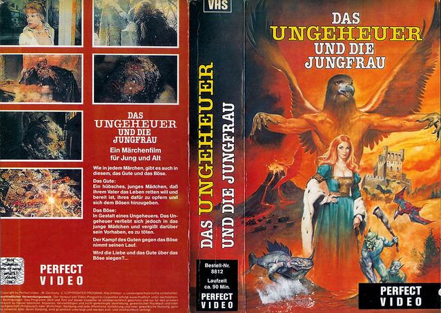 das ungeheuer und die jungfrau (VHS Box Art)