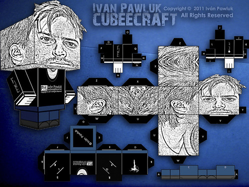 Cubeecraft Iván Pawluk (Artista para armar - Artist to build )