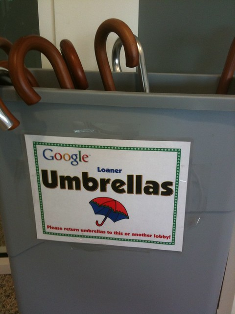 Rainy day gear at Google