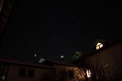 Airplanes In The Nightsky (Restless-Screams) Tags: house night stars star nacht airplanes stripe haus stern sterne flugzeuge beleuchtet