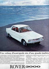 the 1960s-ad for Rover 2000 (april-mo) Tags: vintagecar rover 1964 the60s vintagead rover2000 the1960s 1964ad vintagefrenchmagazine vintageadforcar