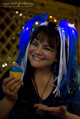 The Wearing of the Blue. (Paul McRae (Delta Niner)) Tags: blue beautiful smile nicole illuminated cupcake glowy strine