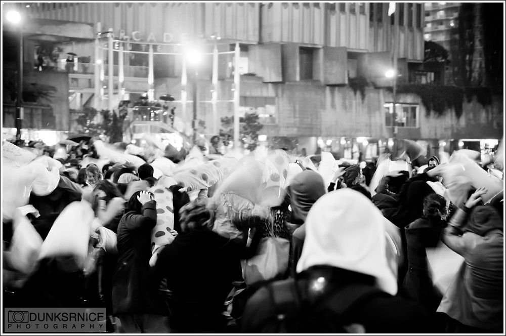 2011 San Francisco Pillow Fight B&W.