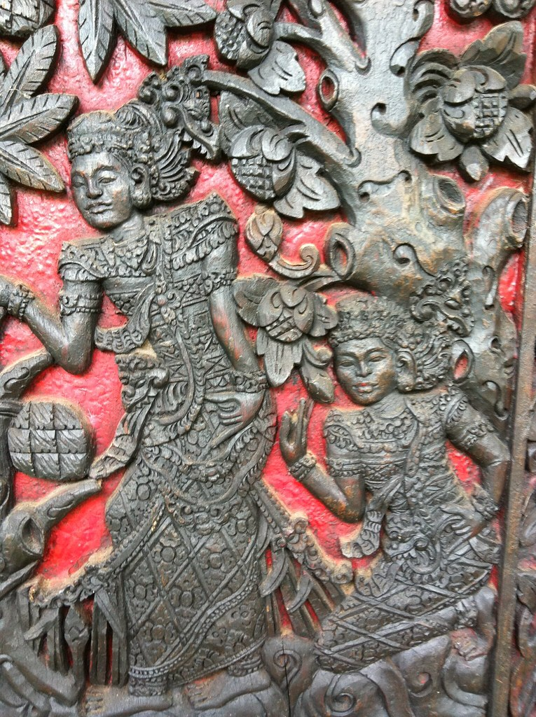 Wall frieze, museum, Sanur, Bali