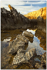 sellina seacliffs (chris frick) Tags: light sunset sky sun clouds reflections rocks dusk filter lee sicily foreground sanvitolocapo canonef1635mmf28liiusm sellina chrisfrick golfodicofano canoneos5dmark2 09gndsoft 075gndhard fokusstacking
