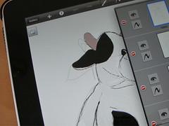 Kuh auf dem iPad gezeichnet