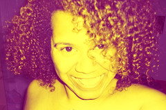 Saying Cheese First Thing in the Morning (TracyReneeJones) Tags: me smile purple curls curly trj