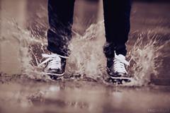 Day 50/365 - Splash Fun (EMIV) Tags: rain canon puddle 5d splash 135l