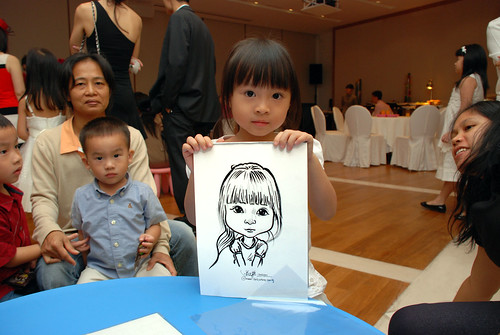 caricatrue live sketching for Arthur & Maria wedding dinner - 5