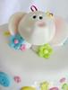 Baby Shower Cake (Sweet Scarlet Designs) Tags: baby elephant cake scarlet shower sweet buttons fondant gumpaste vanila